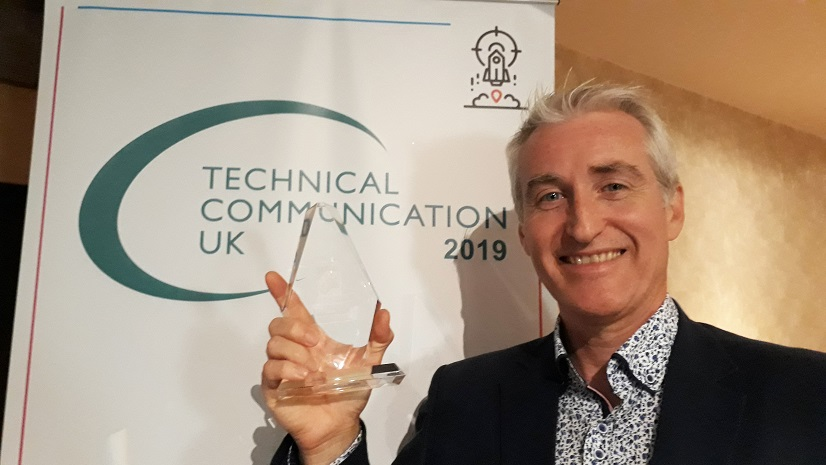 CertiKit managing director Ken Holmes with his UK Technical Communication Award